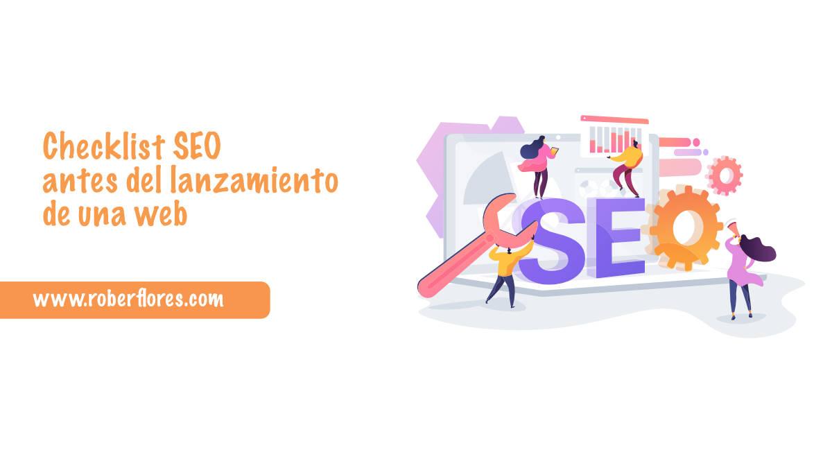 checklist SEO antes del lanzamiento de una página web