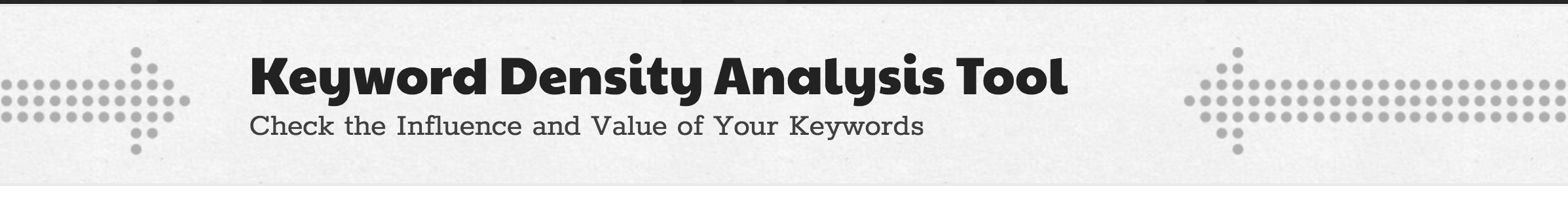 keyword density tool